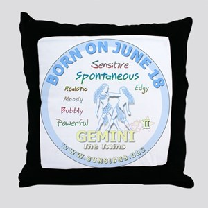 June 18th Birthday - Gemini Personali Throw Pillow