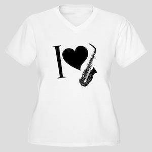 I love sax Plus Size T-Shirt