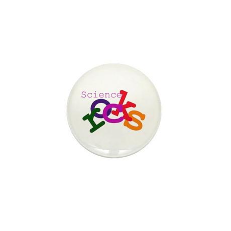 Science Rocks Mini Button