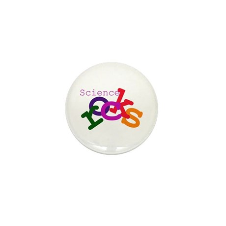 Science Rocks Mini Button (10 pack)
