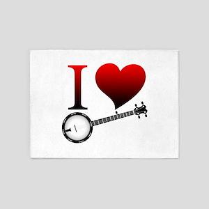 I love banjo 5'x7'Area Rug