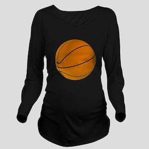 Basket Ball Long Sleeve Maternity T-Shirt