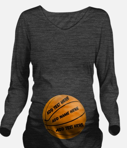 Basketball Long Sleeve Maternity T-Shirt