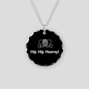 Hip Hip Hooray dark button Necklace