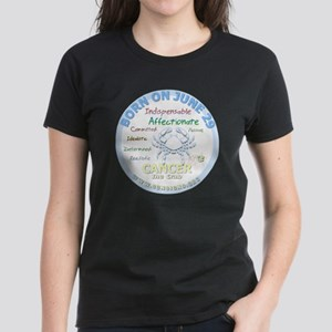 June 29th Birthday - Cancer P Women's Dark T-Shirt