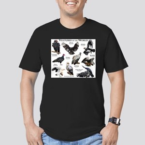 Vultures of the World Men's Fitted T-Shirt (dark)