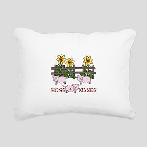 Hogs Kissess Rectangular Canvas Pillow