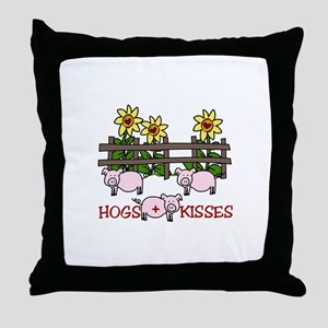 Hogs Kissess Throw Pillow