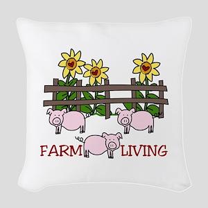 Farm Living Woven Throw Pillow