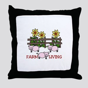 Farm Living Throw Pillow