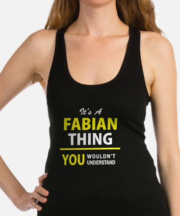 Cute Fabian Racerback Tank Top