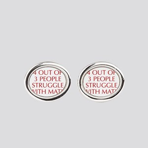 4-OUT-OF-3-PEOPLE-OPT-RED Oval Cufflinks