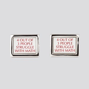 4-OUT-OF-3-PEOPLE-OPT-RED Rectangular Cufflinks