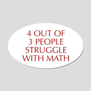 4-OUT-OF-3-PEOPLE-OPT-RED Wall Decal