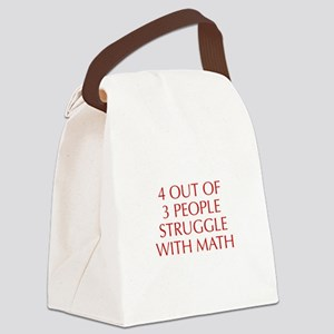 4-OUT-OF-3-PEOPLE-OPT-RED Canvas Lunch Bag
