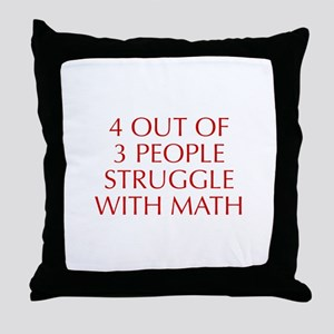 4-OUT-OF-3-PEOPLE-OPT-RED Throw Pillow