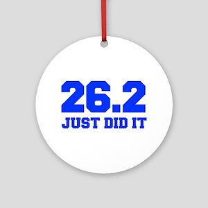 26-2-JUST-DID-IT-FRESH-BLUE Ornament (Round)