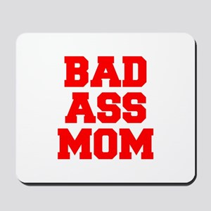 bad-ass-mom-FRESH-RED Mousepad