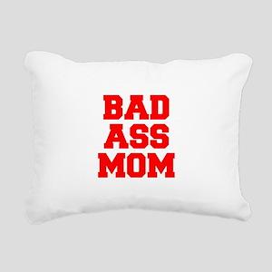 bad-ass-mom-FRESH-RED Rectangular Canvas Pillow