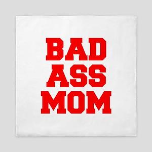bad-ass-mom-FRESH-RED Queen Duvet