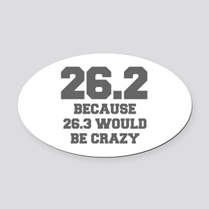 BECAUSE-26.3-WOULD-BE-CRAZY-FRESH-GRAY Oval Car Ma