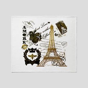 La Tour Eiffel Throw Blanket