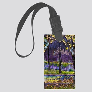 Hummingbirds n Wisteria Large Luggage Tag