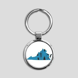 Virginia Home Round Keychain