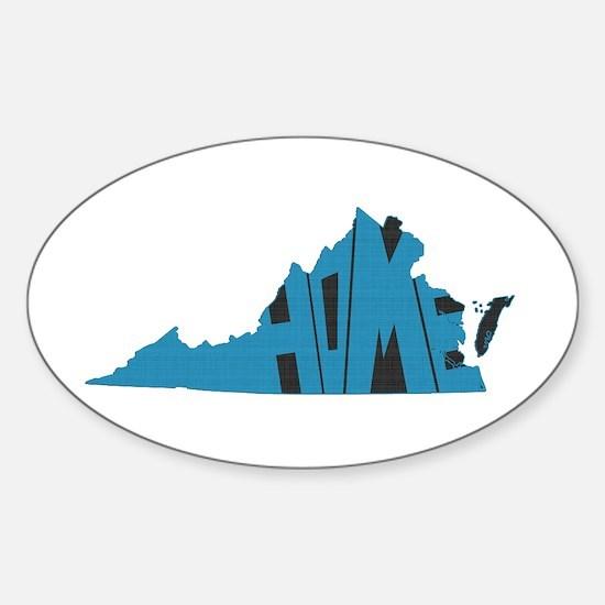 Virginia Home Sticker (Oval)