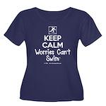 Keepcalm Women's Scoop Neck Dark Plus Size T-Shirt