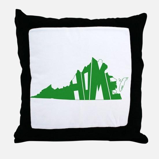 Virginia Home Throw Pillow