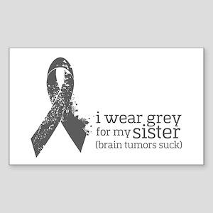I Wear Grey For My Sister Sticker