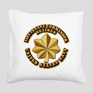 Navy - Lieutenant Commander - Square Canvas Pillow