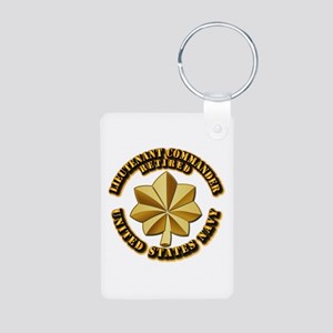 Navy - Lieutenant Commande Aluminum Photo Keychain