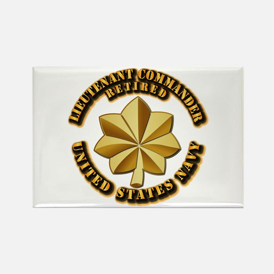 Navy - Lieutenant Comma Rectangle Magnet (10 pack)