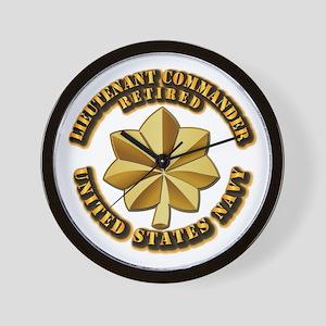 Navy - Lieutenant Commander - O-4 - V1 Wall Clock