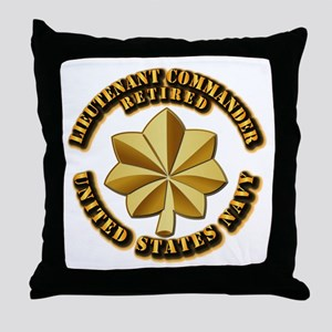 Navy - Lieutenant Commander - O-4 - V Throw Pillow