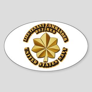Navy - Lieutenant Commander - O-4 - Sticker (Oval)