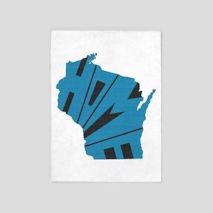 Wisconsin Home 5'x7'Area Rug