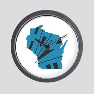 Wisconsin Home Wall Clock