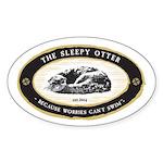 TheSleepyOtter_logo Sticker