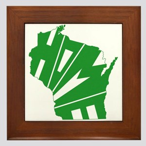 Wisconsin Home Framed Tile