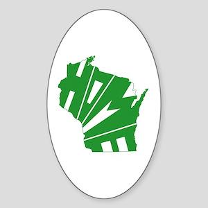 Wisconsin Home Sticker (Oval)
