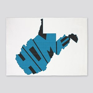 West Virginia Home 5'x7'Area Rug