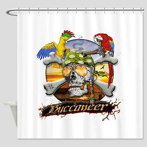 Pirate Parrots Shower Curtain