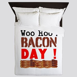 Woo Hoo Bacon Day Queen Duvet