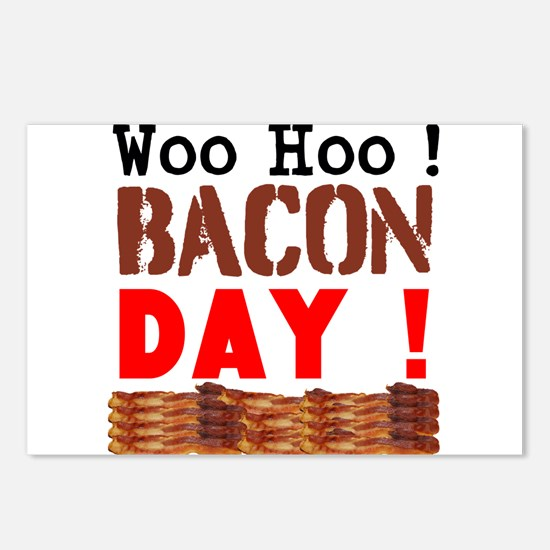 Woo Hoo Bacon Day Postcards (Package of 8)