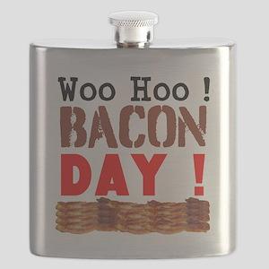 Woo Hoo Bacon Day Flask