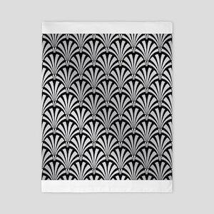 Elegant Black and Silver Art Deco Twin Duvet