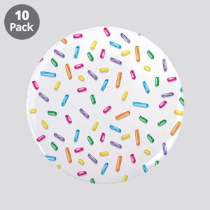"""Colorful Ice Cream Candy Sprinkles 3.5"""" Button (10"""